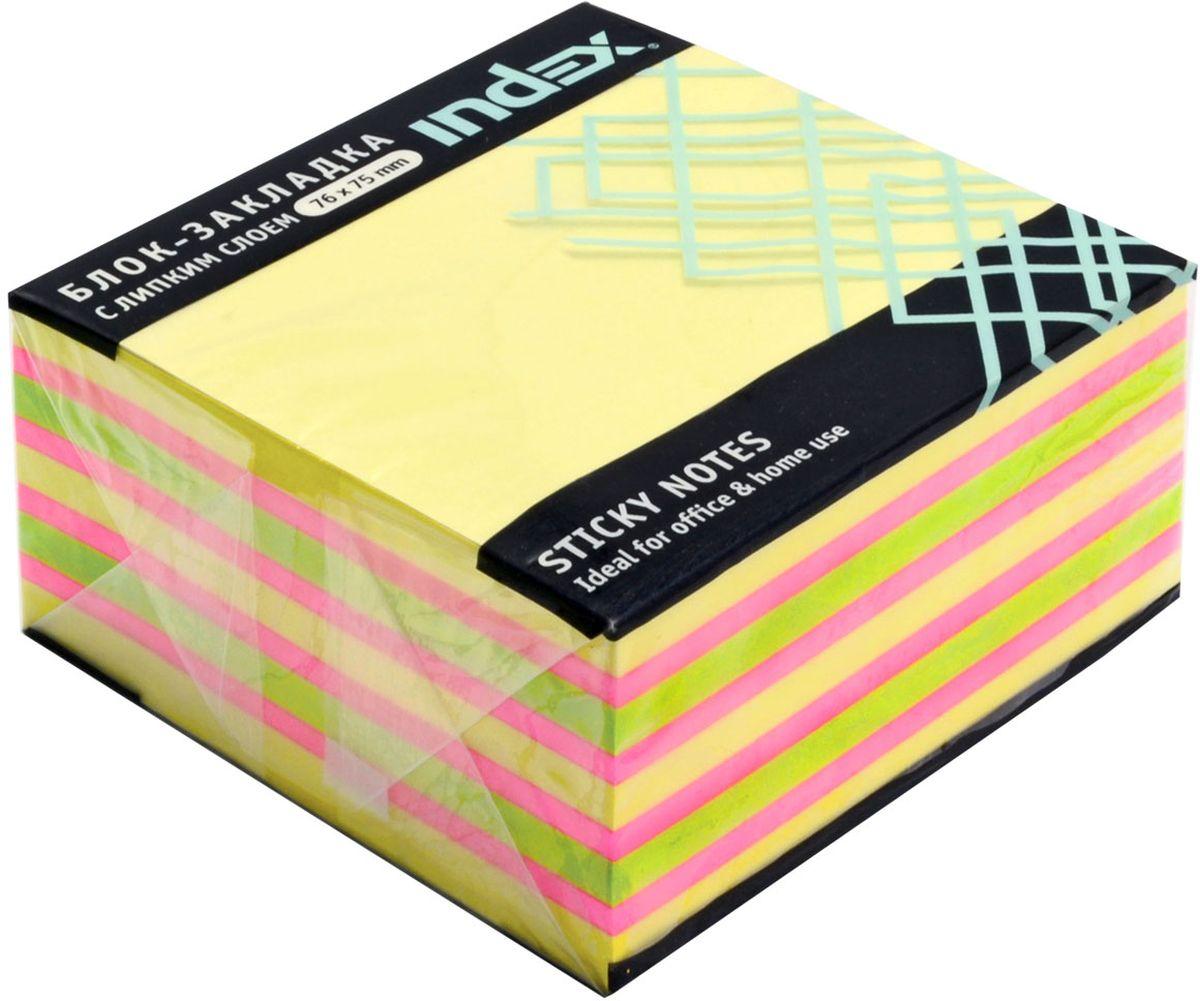 Index Бумага для заметок с липким слоем цвет желтый 400 листов I4338110703415Бумага для заметок с липким слоем, размер 76 х 75 мм, 400 листов. Клеевой слой - 21 Н/м, плотность бумаги - 75г/кв.м. Не оставляет следов после использования, лист может крепиться повторно.