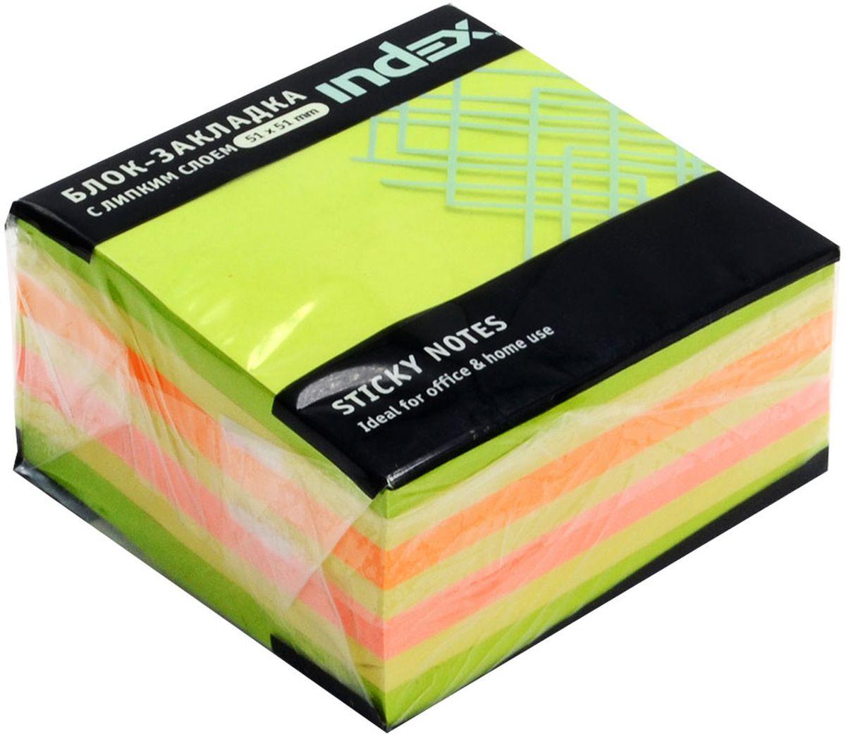 Index Бумага для заметок с липким слоем Мини-куб цвет зеленый 250 листов72523WDБумага для заметок с липким слоем, размер 51 х 51 мм, 250 листов. Клеевой слой - 21 Н/м, плотность бумаги - 75г/кв.м. Не оставляет следов после использования, лист может крепиться повторно.