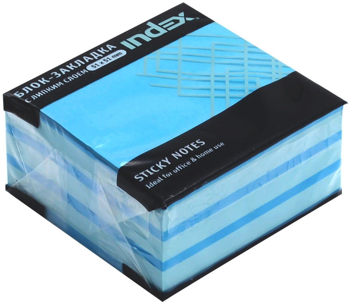 Index Бумага для заметок с липким слоем Мини-куб 5,1 х 5,1 см цвет голубой 250 листовELA049-18Бумага для заметок с липким слоем Index Мини-куб обязательно привлечет внимание к вашему сообщению. Листочки легко приклеиваются к любой поверхности, будь то бумага, корпус монитора, дверь. Не оставляют следов после отклеивания.
