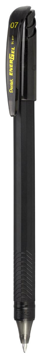 Pentel Ручка гелевая Energel цвет корпуса черный72523WDГелевая ручка Pentel Energel Pentel имеет матовый пластиковый корпус с рифленой зоной захвата. Цвет колпачка и пишущего узла выполнены в цвет чернил ручки. Чернила гарантируют моментальное высыхание надписи на бумаге.