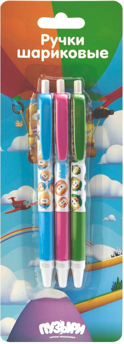 Action! Набор шариковых ручек Пузыри цвет синий 3 шт0703415Пластиковый корпус. Синие чернила. Диаметр шарика - 0,5 мм. 3 штуки в блистере с европодвесом.