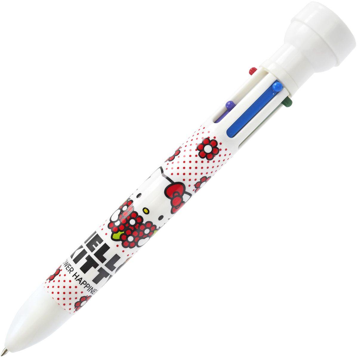 Action! Ручка шариковая Hello Kitty со штампиком 6 цветов72523WDПластиковый корпус. 6 цветов в одной ручке: красный, фиолетовый, синий, зеленый, оранжевый, черный. Со штампиком.