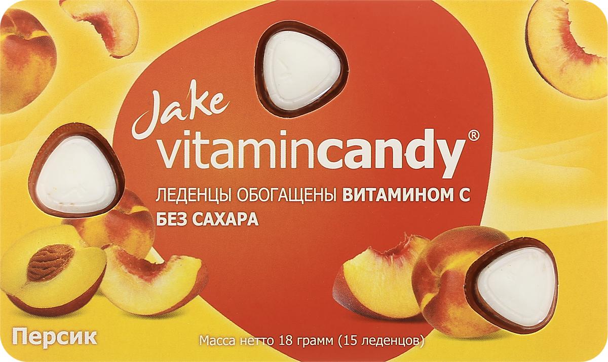 Jake Vitamin C леденцы со вкусом персика, 18 г0120710Ароматный вкус сочного персика в союзе с эффективным природным антиоксидантом - витамином С, помогают защитить иммунитет и дарят хорошее настроение в ненастное и богатое на заболевания межсезонье.Уважаемые клиенты! Обращаем ваше внимание, что полный перечень состава продукта представлен на дополнительном изображении.