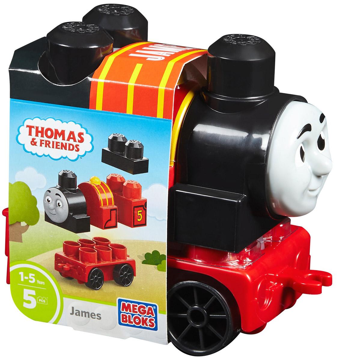 Mega Bloks Thomas & Friends Конструктор Паровозик Джеймс конструкторы mega bloks томас и друзья томас и гарольд