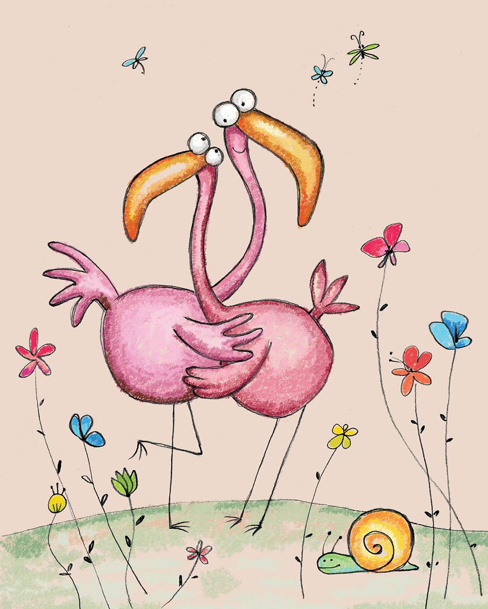 Marker Записная книжка Фламинго 24 листа в клетку72523WDЗаписная книжка Marker Фламинго отлично подойдет для различных записей.Дизайнерская обложка выполнена из высококачественного картона. Внутренний блок состоит из 24 листов в клетку, соединенных металлической скрепкой. Листы украшены изображениями обнимающихся животных.