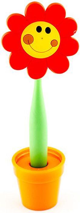 Эврика Ручка шариковая Цветок Смайлик большой на подставке цвет красный72523WDВ скучной офисной обстановке иногда так не хватает чего-то солнечного, живого, веселого. Гибкая удобная ручка-цветок с подставкой в форме кашпо внесет недостающие нотки непринужденности и весеннего настроения в канцелярские будни.