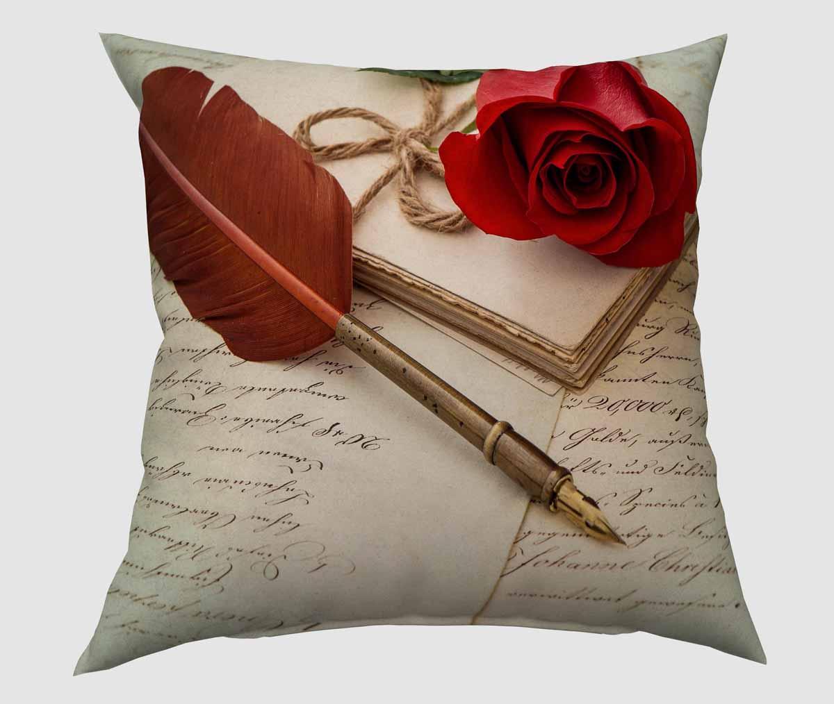 Подушка декоративная Сирень Любовное письмо, 40 х 40 смSVC-300Декоративная подушка Сирень Любовное письмо, изготовленная из габардина (100% полиэстер), прекрасно дополнит интерьер спальни или гостиной. Подушка оформлена красочным изображением. Внутри - мягкий наполнитель из холлофайбера (100% полиэстер). Красивая подушка создаст атмосферу тепла и уюта в спальне и станет прекрасным элементом декора.