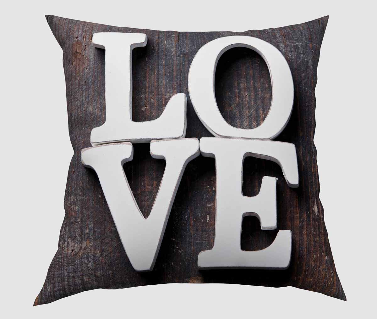 Подушка декоративная Сирень Объемная любовь, 40 х 40 см подушка декоративная сирень анютины глазки 40 х 40 см