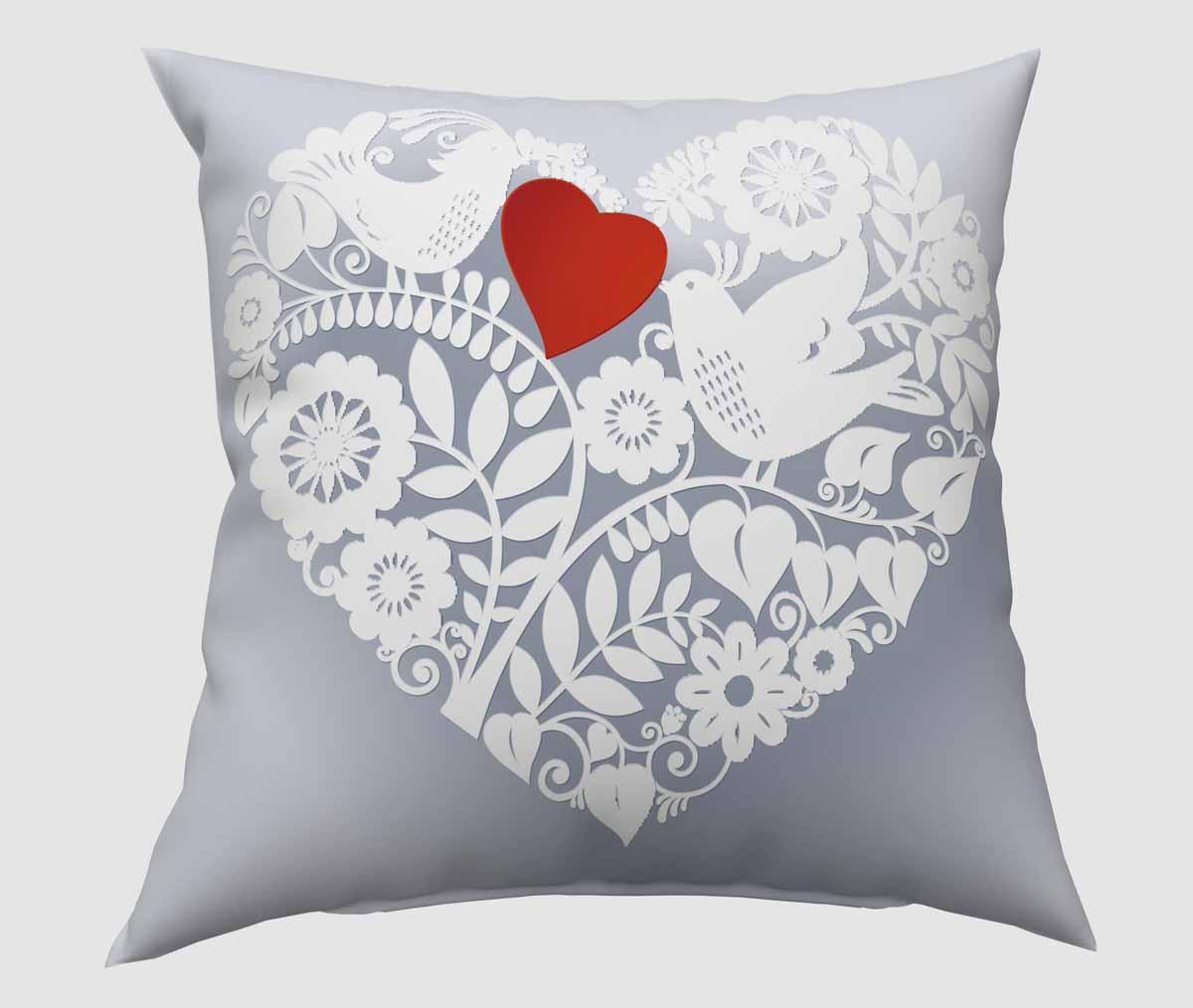 Подушка декоративная Сирень Ажурное сердце, 40 х 40 см1004900000360Декоративная подушка Сирень Ажурное сердце, изготовленная из габардина (100% полиэстер), прекрасно дополнит интерьер спальни или гостиной. Подушка оформлена красочным изображением. Внутри - мягкий наполнитель из холлофайбера (100% полиэстер). Красивая подушка создаст атмосферу тепла и уюта в спальне и станет прекрасным элементом декора.