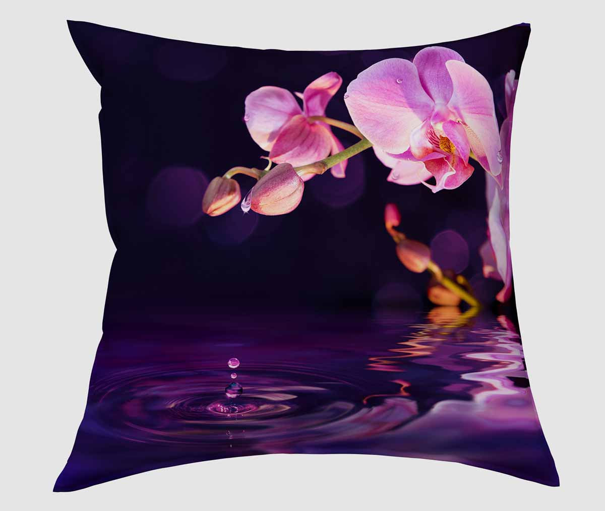 Подушка декоративная Сирень Орхидея над водой, 40 х 40 смSVC-300Декоративная подушка Сирень Орхидея над водой, изготовленная из габардина (100% полиэстер), прекрасно дополнит интерьер спальни или гостиной. Подушка оформлена красочным изображением. Внутри - мягкий наполнитель из холлофайбера (100% полиэстер). Красивая подушка создаст атмосферу тепла и уюта в спальне и станет прекрасным элементом декора.