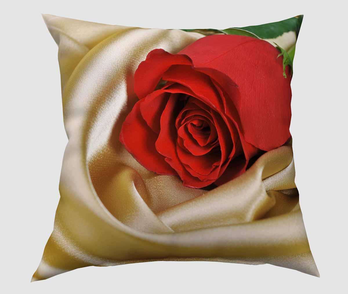 Подушка декоративная Сирень Красная роза, 40 х 40 смSVC-300Декоративная подушка Сирень Красная роза, изготовленная из габардина (100% полиэстер), прекрасно дополнит интерьер спальни или гостиной. Подушка оформлена красочным изображением. Внутри - мягкий наполнитель из холлофайбера (100% полиэстер). Красивая подушка создаст атмосферу тепла и уюта в спальне и станет прекрасным элементом декора.