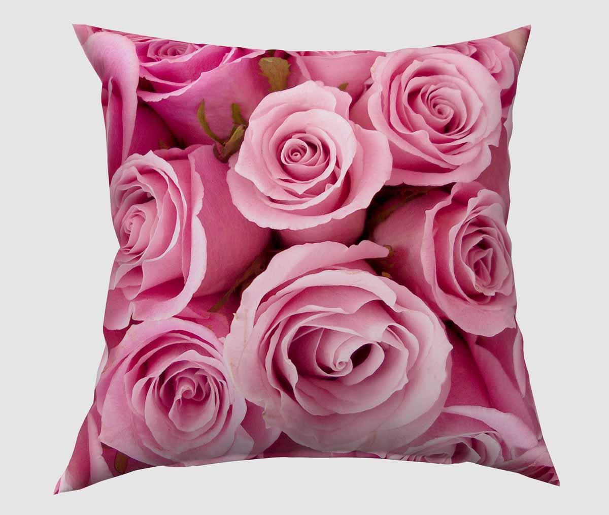 Подушка декоративная Сирень Розовые розы, 40 х 40 см04555-ПШ-ГБ-012Декоративная подушка Сирень Розовые розы, изготовленная из габардина (100% полиэстер), прекрасно дополнит интерьер спальни или гостиной. Подушка оформлена красочным изображением. Внутри - мягкий наполнитель из холлофайбера (100% полиэстер). Красивая подушка создаст атмосферу тепла и уюта в спальне и станет прекрасным элементом декора.