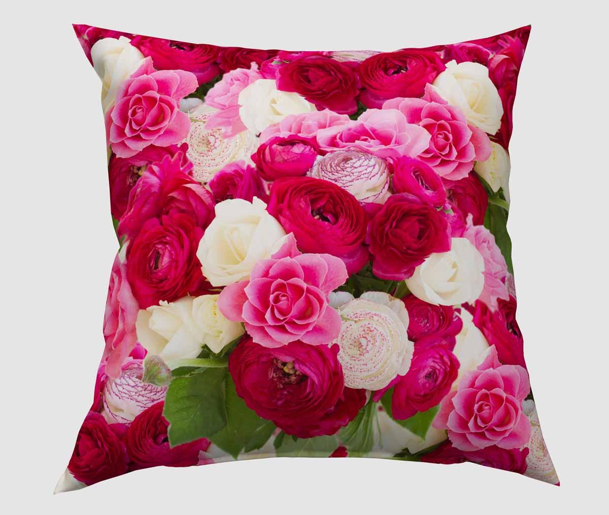 Подушка декоративная Сирень Розы, 40 х 40 см531-105Декоративная подушка Сирень Розы, изготовленная из габардина (100% полиэстер), прекрасно дополнит интерьер спальни или гостиной. Подушка оформлена красочным изображением. Внутри - мягкий наполнитель из холлофайбера (100% полиэстер). Красивая подушка создаст атмосферу тепла и уюта в спальне и станет прекрасным элементом декора.
