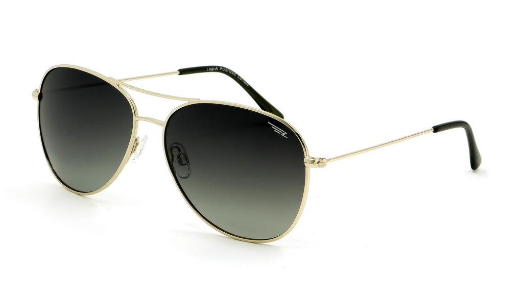 Очки поляризационные женские Legna, цвет: золотой, зеленый. S4601ABM8434-58AEСолнцезащитные очки Legna с поляризационными линзами превосходно предохраняют глаза от любого рода вредных бликов и УФ-лучей, что делает вождение безопасным и комфортным. Также очки Legna ничем не уступают самым известным маркам и брендам в эстетической части. Благодаря линзам премиум класса очки Legna прекрасно подходят для повседневной носки, занятий спортом, отдыха и конечно для использования за рулем.