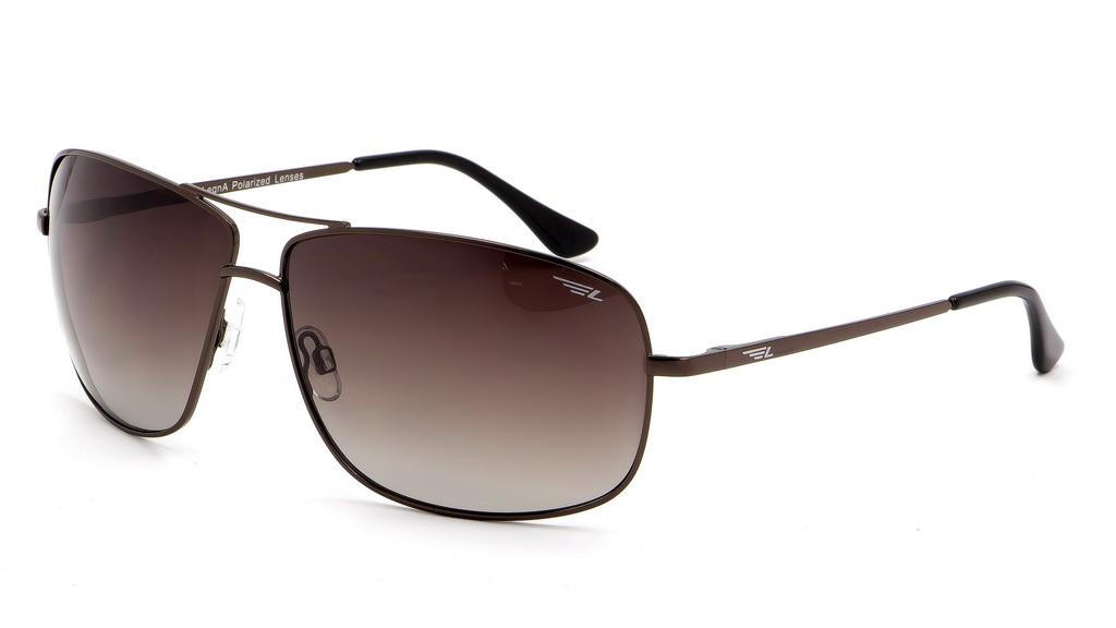 Очки поляризационные мужские Legna, цвет: коричневый. S4602BINT-06501Солнцезащитные очки Legna с поляризационными линзами превосходно предохраняют глаза от любого рода вредных бликов и УФ-лучей, что делает вождение безопасным и комфортным. Также очки Legna ничем не уступают самым известным маркам и брендам в эстетической части. Благодаря линзам премиум класса очки Legna прекрасно подходят для повседневной носки, занятий спортом, отдыха и конечно для использования за рулем.