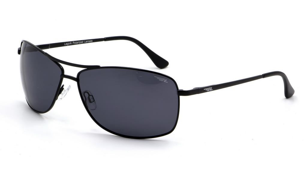 Очки поляризационные мужские Legna, цвет: черный, серый. S4603ABM8434-58AEСолнцезащитные очки Legna с поляризационными линзами превосходно предохраняют глаза от любого рода вредных бликов и УФ-лучей, что делает вождение безопасным и комфортным. Также очки Legna ничем не уступают самым известным маркам и брендам в эстетической части. Благодаря линзам премиум класса очки Legna прекрасно подходят для повседневной носки, занятий спортом, отдыха и конечно для использования за рулем.