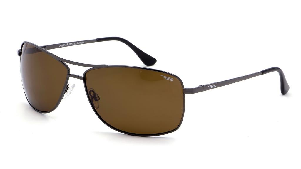 Очки поляризационные мужские Legna, цвет: коричневый. S4603BBM8434-58AEСолнцезащитные очки Legna с поляризационными линзами превосходно предохраняют глаза от любого рода вредных бликов и УФ-лучей, что делает вождение безопасным и комфортным. Также очки Legna ничем не уступают самым известным маркам и брендам в эстетической части. Благодаря линзам премиум класса очки Legna прекрасно подходят для повседневной носки, занятий спортом, отдыха и конечно для использования за рулем.
