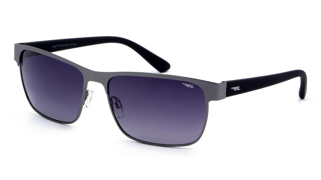 Очки поляризационные мужские Legna, цвет: черный, серый. S4604AINT-06501Солнцезащитные очки Legna с поляризационными линзами превосходно предохраняют глаза от любого рода вредных бликов и УФ-лучей, что делает вождение безопасным и комфортным. Также очки Legna ничем не уступают самым известным маркам и брендам в эстетической части. Благодаря линзам премиум класса очки Legna прекрасно подходят для повседневной носки, занятий спортом, отдыха и конечно для использования за рулем.
