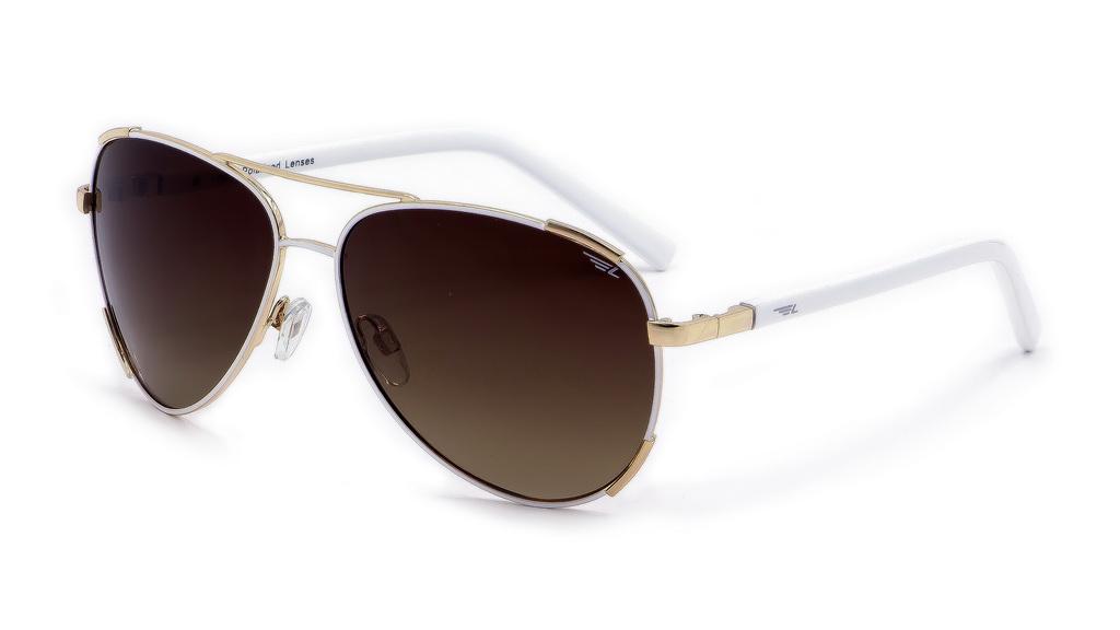 Очки поляризационные женские Legna, цвет: белый, коричневый. S4607ABM8434-58AEСолнцезащитные очки Legna с поляризационными линзами превосходно предохраняют глаза от любого рода вредных бликов и УФ-лучей, что делает вождение безопасным и комфортным. Также очки Legna ничем не уступают самым известным маркам и брендам в эстетической части. Благодаря линзам премиум класса очки Legna прекрасно подходят для повседневной носки, занятий спортом, отдыха и конечно для использования за рулем.