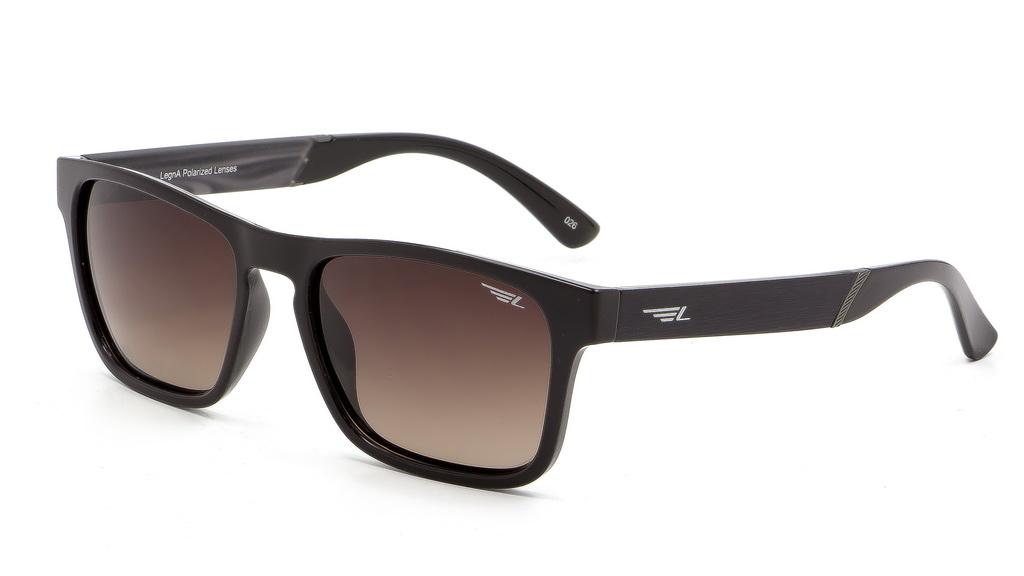 Очки поляризационные мужские Legna, цвет: коричневый. S8600BBM8434-58AEСолнцезащитные очки Legna с поляризационными линзами превосходно предохраняют глаза от любого рода вредных бликов и УФ-лучей, что делает вождение безопасным и комфортным. Также очки Legna ничем не уступают самым известным маркам и брендам в эстетической части. Благодаря линзам премиум класса очки Legna прекрасно подходят для повседневной носки, занятий спортом, отдыха и конечно для использования за рулем.