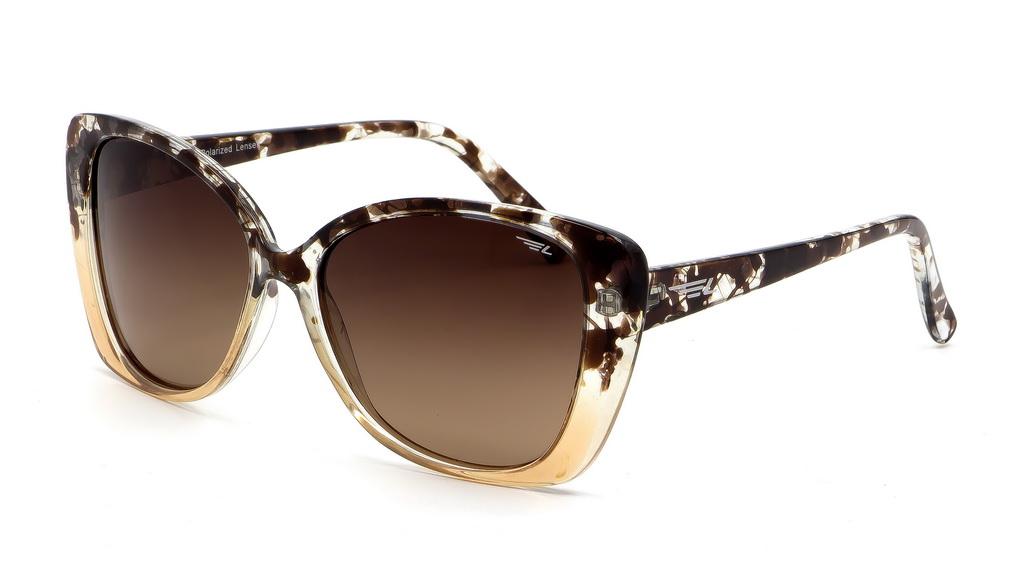 Очки поляризационные женские Legna, цвет: коричневый. S8603BINT-06501Солнцезащитные очки Legna с поляризационными линзами превосходно предохраняют глаза от любого рода вредных бликов и УФ-лучей, что делает вождение безопасным и комфортным. Также очки Legna ничем не уступают самым известным маркам и брендам в эстетической части. Благодаря линзам премиум класса очки Legna прекрасно подходят для повседневной носки, занятий спортом, отдыха и конечно для использования за рулем.