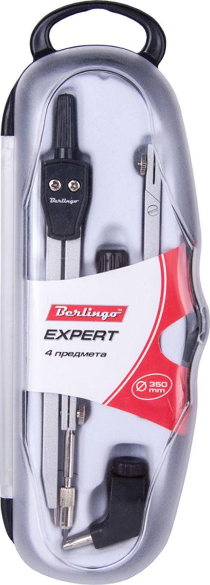 Berlingo Готовальня Expert 4 предметаFS-36054Готовальня Berlingo Expert представляет собой набор из 4 предметов: циркуль, сменный грифель, универсальный держатель, удлинитель. Набор предназначен для чертежно-графических работ.