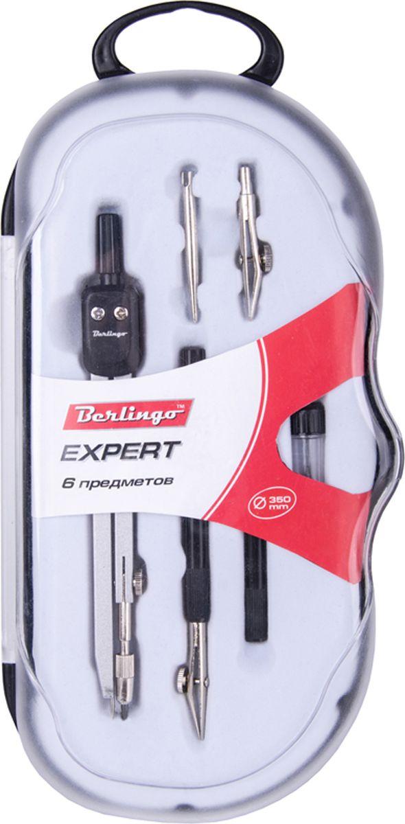 Berlingo Готовальня Expert 6 предметовFS-54370Готовальня Berlingo Expert представляет собой набор из 6 предметов: циркуль, сменный грифель, точечная насадка, рейсфедерная вставка, рейсфедер. Набор предназначен для чертежно-графических работ.