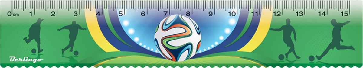 Линейка Berlingo Футбол из пластика длиной 15 см имеет безопасные закругленные края. Каждая линейка упакована в пластиковый пакет с европодвесом.
