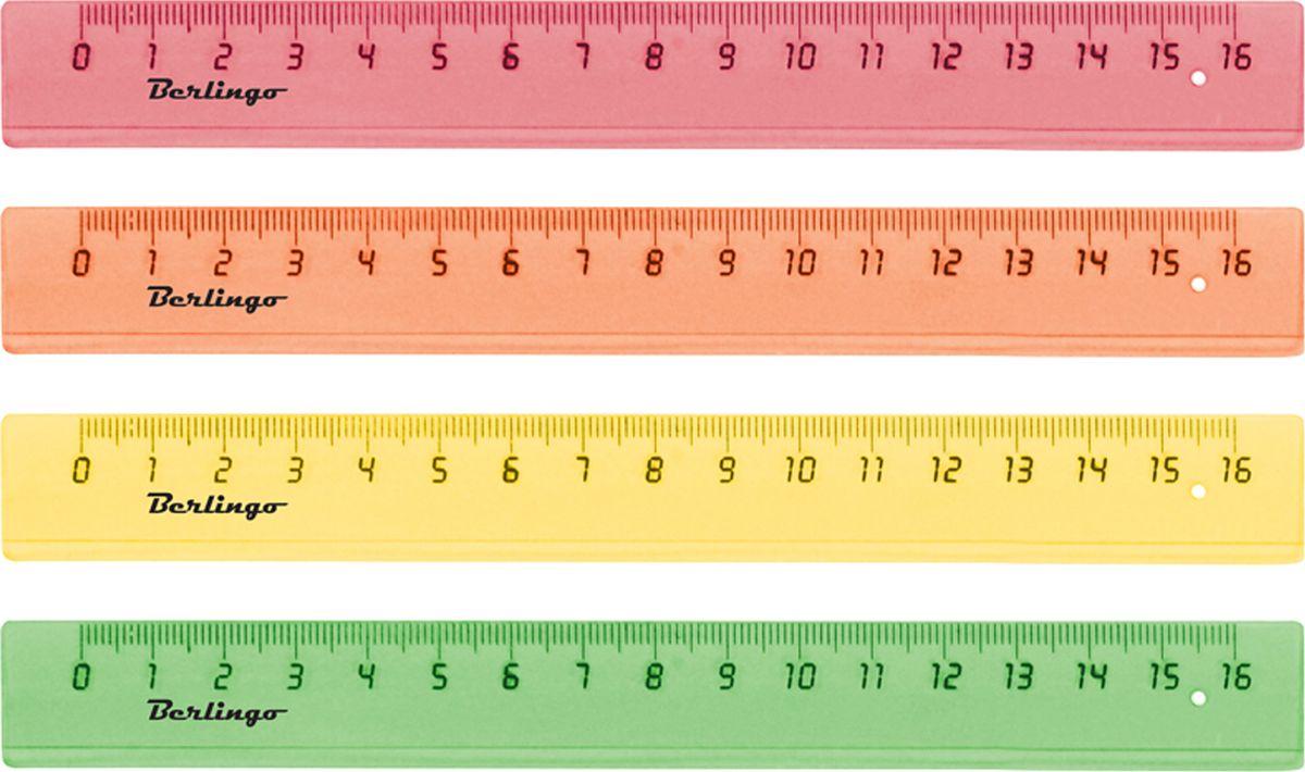 Berlingo Линейка цвет прозрачный оранжевый 16 см72523WDЛинейка Berlingo выполнена из полупрозрачного пластика. Длина линейки - 16 см.Линейка - это незаменимый атрибут, необходимый школьнику или студенту, упрощающий измерение и обеспечивающий ровность проводимых линий. Края линейки закруглены для безопасного использования.