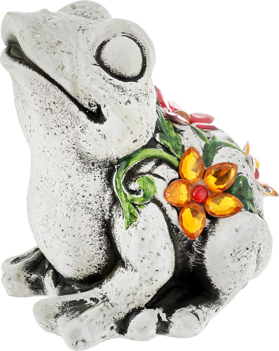 Фигурка декоративная Лилло Лягушка, высота 15 см330723Декоративная фигурка Лилло Лягушка станет необычным аксессуаром для вашего интерьера и создаст незабываемую атмосферу. Фигурка изготовлена из керамики в виде лягушки. Эта очаровательная вещь послужит отличным подарком близкому человеку, родственнику или другу, а также подарит приятные мгновения и окунет вас в лучшие воспоминания.