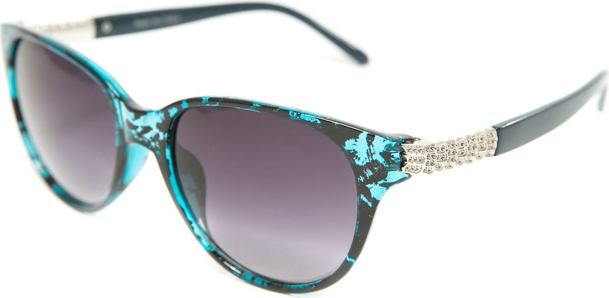 Очки солнцезащитные женские Mitya Veselkov, цвет: синий, черный. MSK-7103-3BM8434-58AEПрекрасные антибликовые очки Mitya Veselkov, станут прекрасным и стильным аксессуаром для вас и защитят от УФ лучей. Они помогут глазу более четко распознать картинку, засвеченную солнечными лучами, при этом скорректируют все возникшие искажения.