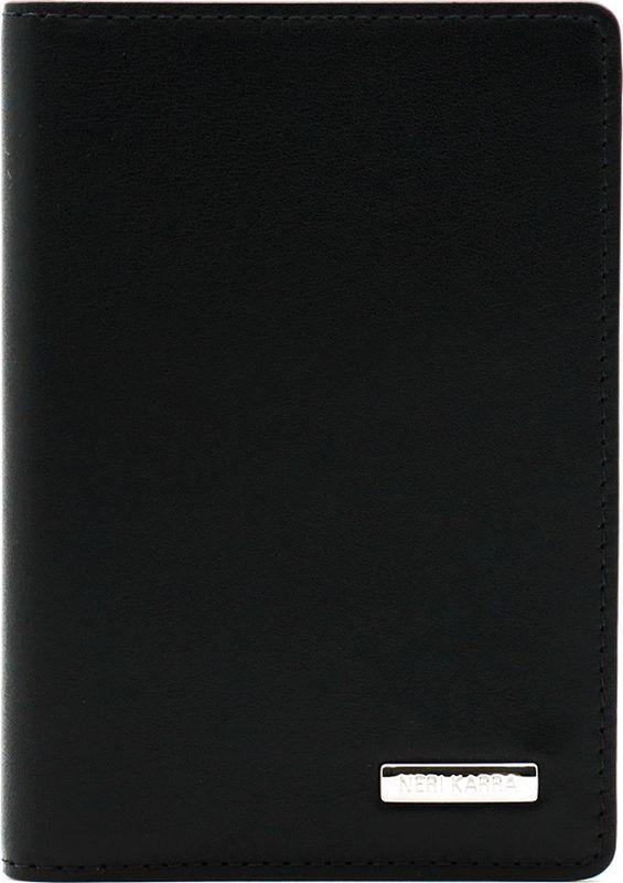 Обложка для автодокументов Neri Karra, цвет: черный. 0132-72 501.01WTID03Обложка для автодокументов от Neri Karra выполнена из натуральной кожи. Модель имеет пластиковые файлы для документов, 6 кармашков для карт и окошко с сеточкой.