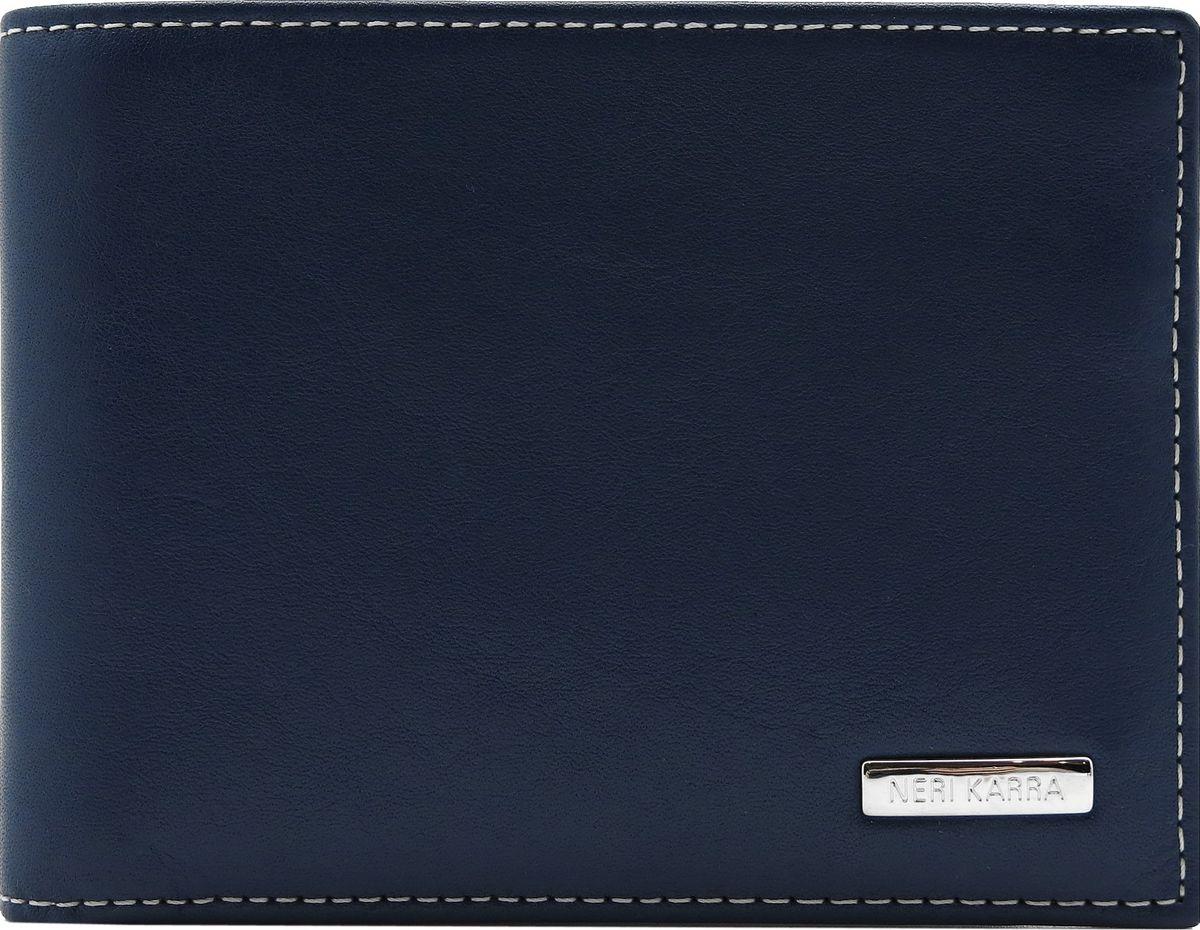 Портмоне мужское Neri Karra, цвет: темно-синий. 0274 3-01.09/3-01.65MX3024820_WM_SHL_010Портмоне Neri Karra выполнено из натуральной кожи. Модель имеет два отделения для купюр, 7 кармашков для карточек и 3 дополнительных кармана. Из портмоне вынимается визитница (7,5 х 10 см), в ней 6 кармашков для карточек.