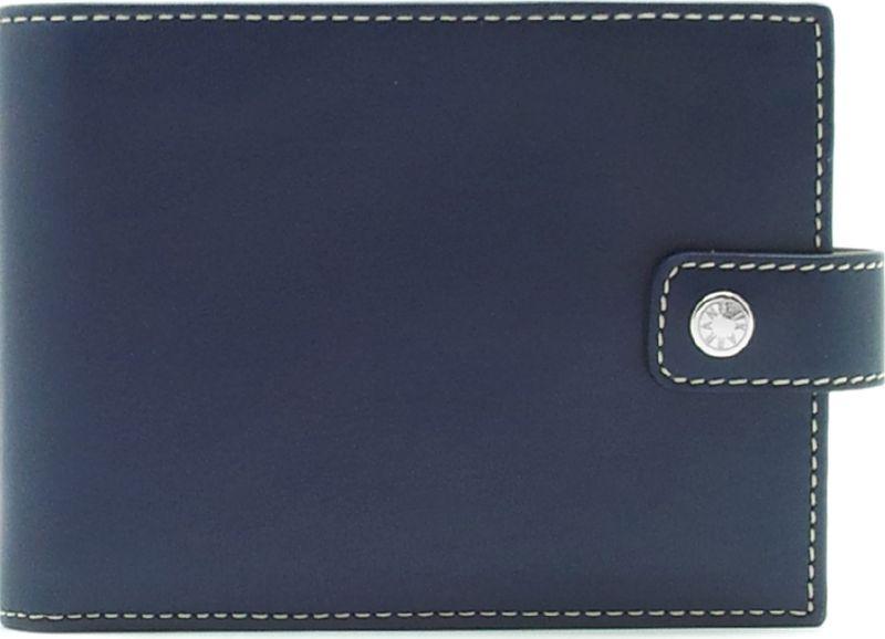 Портмоне мужское Neri Karra, цвет: темно-синий. 0356 3-01.09/3-01.65INT-06501Портмоне Neri Karra выполнено из натуральной кожи и застегивается на хлястик с кнопкой. Модель имеет два отделение для купюр плюс одно потайное, 8 кармашков для карточек,окошко с сеточкой, 3 дополнительных кармана и отделение для мелочи.