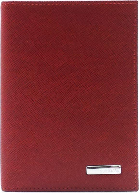обложка для паспорта женская neri karra цвет зеленый бежевый 0140 05 06 04 Обложка для автодокументов женская Neri Karra, цвет: красный. 0032 40.50/301.05