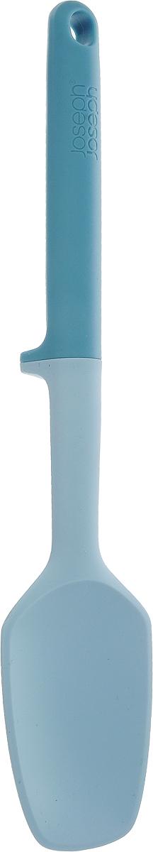 Ложка Joseph Joseph Elevate, цвет: голубой, длина 27 см54 009312Ложка Joseph Joseph Elevate изготовлена из полипропилена и силикона.Помогает сохранить чистоту во время приготовления пищи. В ручку инструмента встроен утяжелитель и держатель. Таким образом, грязная часть всегда остается на весу, и вы никогда не испачкаете поверхность стола. Ручка оснащена небольшой петелькой, за которую ложку можно подвесить в любом удобном для вас месте. Ложка Joseph Joseph Elevate выдерживает температуру до 270°C. Можно мыть в посудомоечной машине.Общая длина ложки: 27 см.Размер рабочей поверхности: 8 х 5,5 см.