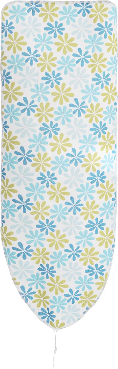 Чехол для гладильной доски Paterra Цветы, с поролоном, 146 х 55 смGC204/30Чехол Paterra Цветы, выполненный из хлопка с подкладкой из поролона (полиуретана), продлит срок службы вашей гладильной доски. Чехол снабжен стягивающим шнуром, при помощи которого вы легко отрегулируете оптимальное натяжение и зафиксируете его на рабочей поверхности гладильной доски. Чехол оформлен оригинальным рисунком, что оживит внешний вид вашей гладильной доски. Размер чехла: 146 х 55 см. Максимальный размер доски: 140 х 50 см. Толщина подкладки: 4 мм.