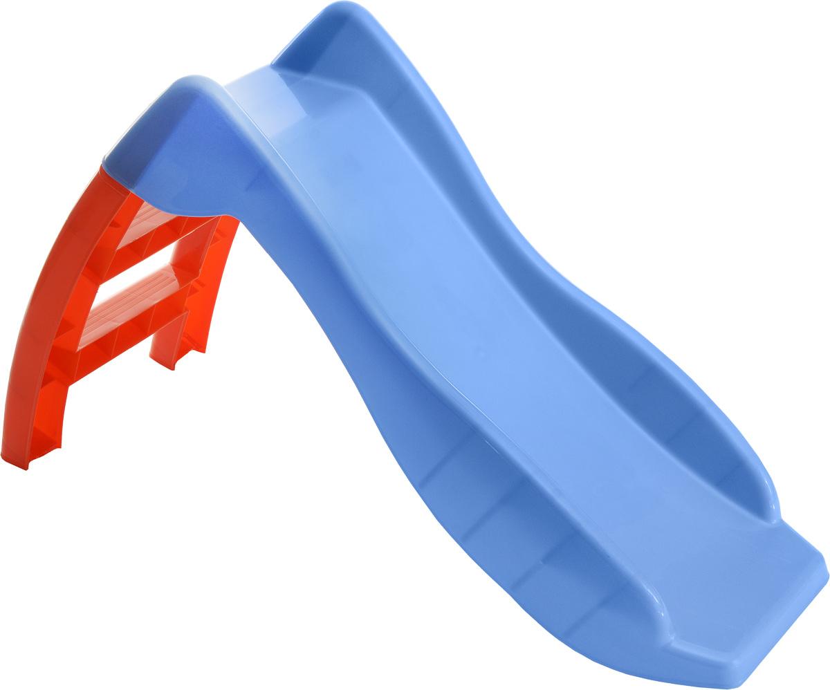 PalPlay Детская горка цвет оранжевый сиреневый - Игры на открытом воздухе