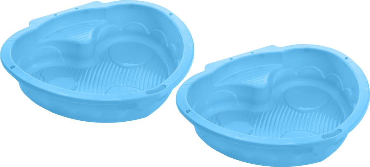 """Песочница-бассейн Marian Plast """"Сердечко"""" прекрасно подойдет как для игры на улице, так и в закрытом помещении. Песочница состоит из 2-х частей, что позволяет закрывать ее от дождя. Может быть использована, как бассейн для малыша. В песочнице могу играть сразу два ребенка, каждый в своей половинке. Компактная, легкая песочница изготовлена из безопасного, гипоаллергенного материала."""