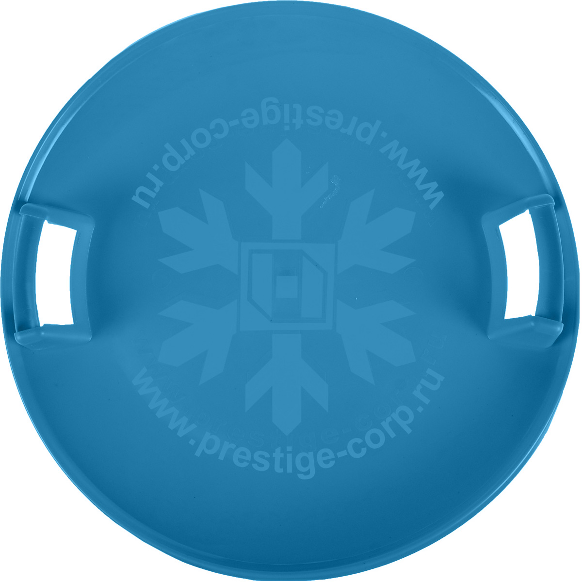 Санки-ледянки Престиж Экстрим, с пластиковыми ручками, цвет: голубой, диаметр 58 смLA010301Любимая детская зимняя забава - это катание с горки. Яркие санки-ледянки Престиж Экстрим станут незаменимым атрибутом этой веселой детской игры. Санки-ледянки Престиж Экстрим - это специальная пластиковая тарелка, облегчающая скольжение и увеличивающая скорость движения по горке. Круглая ледянка выполнена из прочного морозоустойчивого пластика и снабжена двумя удобными пластиковыми ручками, чтобы катание вашего ребенка было безопасным. Отличная скорость, прочный материал и спуск, который можно закончить сидя спиной к низу горки - вот что может предоставить это изделие! Благодаря малому весу, ледянку, в отличие от обычных санок, легко нести с собой даже ребенку.