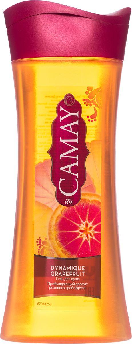 Camay Гель для душа Динамик 250 мл05300421Гель для душа Dynamique Grapefruit (Динамик) дарит энергичный аромат розового грейпфрута и белых цветов, делая кожу соблазнительно нежной и благоухающей.