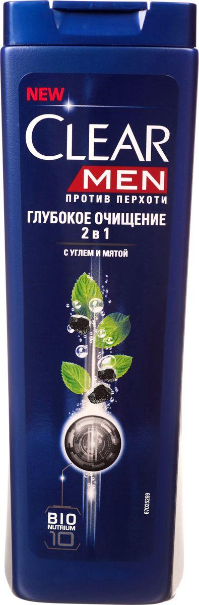 Clear Men Шампунь-бальзам против перхоти Глубокое очищение 400 млCF5512F4Созданный специально для мужчин Шампунь Глубокое очищение 2 в 1 с активированным углем и мятой глубоко очищает кожу головы и дает ощущение чистоты и свежести. Комплекс Nutrium 10, входящий в состав шампуня — это насыщенная смесь 10 питательных веществ и растительных активных компонентов. При регулярном применении он активирует естественный защитный слой против перхоти кожи головы, позволяя вам гарантированно защищаться от перхоти.