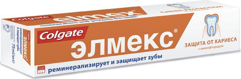 Elmex Зубная паста Защита от кариеса 75мл5010777139655Зубная паста 75мл -1шт Оптимальное содержание фторида в зубной пасте для взрослых: 1400 ppm F-Высокоэффективная защита от кариеса в течение длительного времени