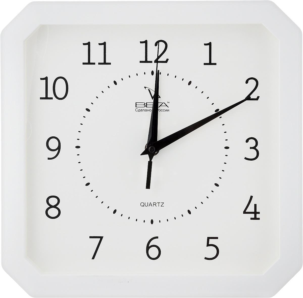 Часы настенные Вега Классика, цвет: белый, 27,5 х 27,5 см94672Настенные кварцевые часы Вега Классика, изготовленные из пластика, прекрасно впишутся в интерьер вашего дома. Часы имеют три стрелки: часовую, минутную и секундную, циферблат защищен прозрачным стеклом. Часы работают от 1 батарейки типа АА напряжением 1,5 В (не входит в комплект).