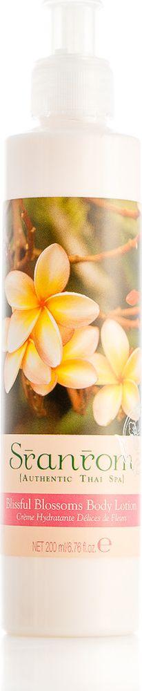 Sranrom Лосьон для тела Блаженные цветы 200 млFS-00897Волшебное сочетание трав в лосьоне Блаженные цветыВ умиротворении вдохните сладкий и мягкий аромат тайских цветов и почувствуйте, как ваше тело расслабляется, а стресс отступает, когда вы аккуратно массируете кожу. Может быть, «ароматерапия» всего лишь пустое слово, но целительная сила аромата была известна в Таиланде ещё 500 лет назад. . Лосьон для тела Блаженные цветы сочетает в себе аромат масел этих двух растений с увлажняющими экстрактами ещё пяти трав, которые делают вашу кожу неотразимо мягкой и гладкой и дарят вам прекрасное настроение.