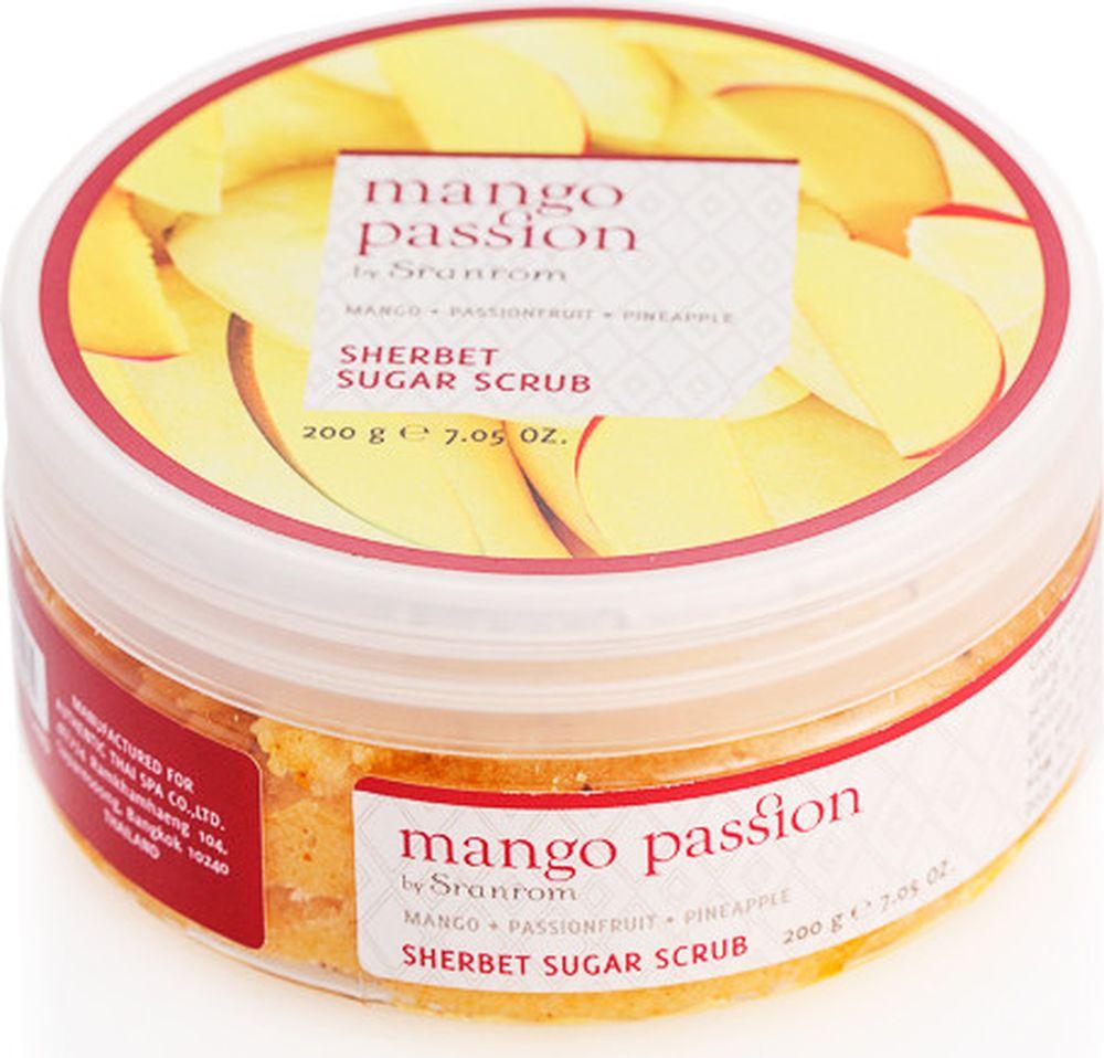 Sranrom Скраб сахарный щербет Страстное манго 200 грFS-36054Подарите себе молодую, сияющую здоровьем кожу за считанные минуты с этим аппетитным скрабом на основе манго, после которого Вам, возможно, вдруг захочется настоящего охлаждающего шербета. Наш скраб содержит большое количество отшелушивающих частиц сахара, фруктовых экстрактов, лимонного масла и косточек абрикоса, что позволит Вам немного побаловать себя и придаст Вам уверенность для того, чтобы представить миру Вашу обновленную сияющую кожу!
