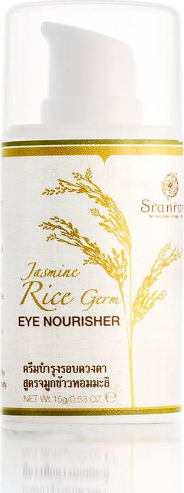 Sranrom Крем вокруг глаз Жасминовый Рис Питательный 15 гр713400Крем для кожи вокруг глаз «Жасминовый рис» — правильное питание вашей кожиПредставленное в нашем интернет-магазине органическое средство по уходу за кожей не оставит вас равнодушными благодаря своему уникальному составу и оказываемому эффекту. 99% компонентов этого питательного крема натуральны. Среди них присутствуют:• зародыши жасминового риса;• кокос;• алоэ вера;• рисовые отруби;• жожоба;• ши;• куркума;• корень женьшеня;• центелла;• цветы банана.Все перечисленные вещества богаты линолевой кислотой, рисовыми керамидами и витамином Е. В данном косметическом продукте не содержатся синтетические красители, такие как силикон. В нем также отсутствуют парабены, различные производные из нефтепродуктов и пропиленгликоль, часто встречающиеся в дешевой косметике.Используйте этот питательный крем утром и вечером, чтобы обеспечить необходимое увлажнение и защиту нежной кожи вокруг глаз.