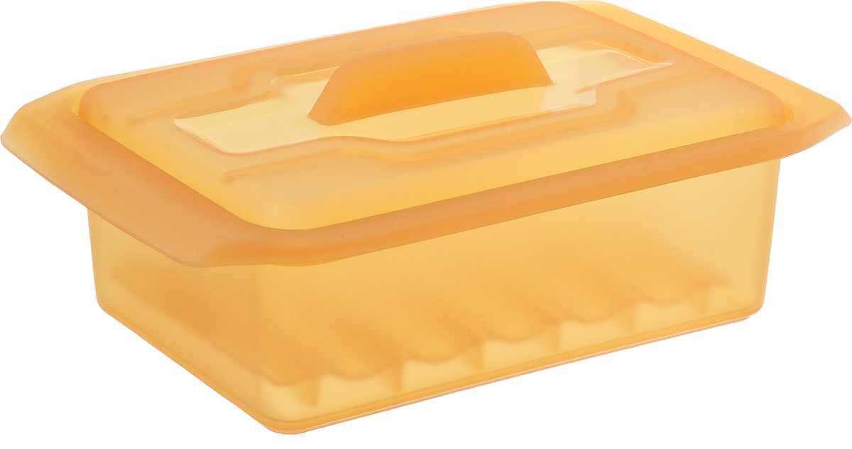 Контейнер-пароварка Tescoma Fusion Diet Revolution, силиконовый, цвет: оранжевый, 15 x 8 см. 638330115510Уникальная силиконовая пароварка с внутренней подставкой-решеткой и крышкой.Предназначена для приготовления низкокалорийных блюд на пару и в духовке.При приготовлении в посуде Fusion Diet Revolution внутри контейнеров создается интенсивный микроклимат, который придает блюдам ряд уникальных особенностей.Все предметы изготовлены из термостойкого силикона, выдерживают температуру до 230°С.Подходит для всех типов печей, в том числе микроволновой печи, а также для холодильника и морозильной камеры.Можно мыть в посудомоечной машине.В комплект входит книга с рецептами диетического питания. Размер контейнера: 15 x 8 см. Высота стенки контейнера: 6 см.
