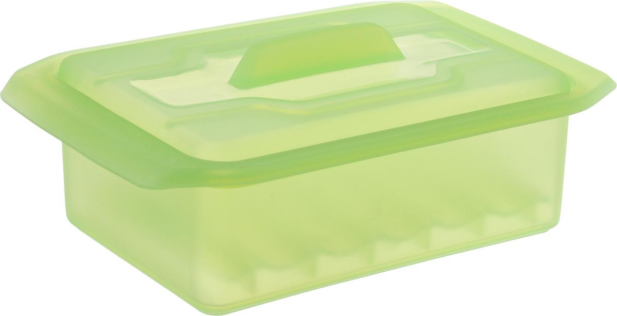Контейнер-пароварка Tescoma Fusion Diet Revolution, силиконовый, цвет: салатовый, 15 x 8 см. 638330115510Уникальная силиконовая пароварка с внутренней подставкой-решеткой и крышкой.Предназначена для приготовления низкокалорийных блюд на пару и в духовке.При приготовлении в посуде Fusion Diet Revolution внутри контейнеров создается интенсивный микроклимат, который придает блюдам ряд уникальных особенностей.Все предметы изготовлены из термостойкого силикона, выдерживают температуру до 230°С.Подходит для всех типов печей, в том числе микроволновой печи, а также для холодильника и морозильной камеры.Можно мыть в посудомоечной машине.В комплект входит книга с рецептами диетического питания. Размер контейнера: 15 x 8 см. Высота стенки контейнера: 6 см.