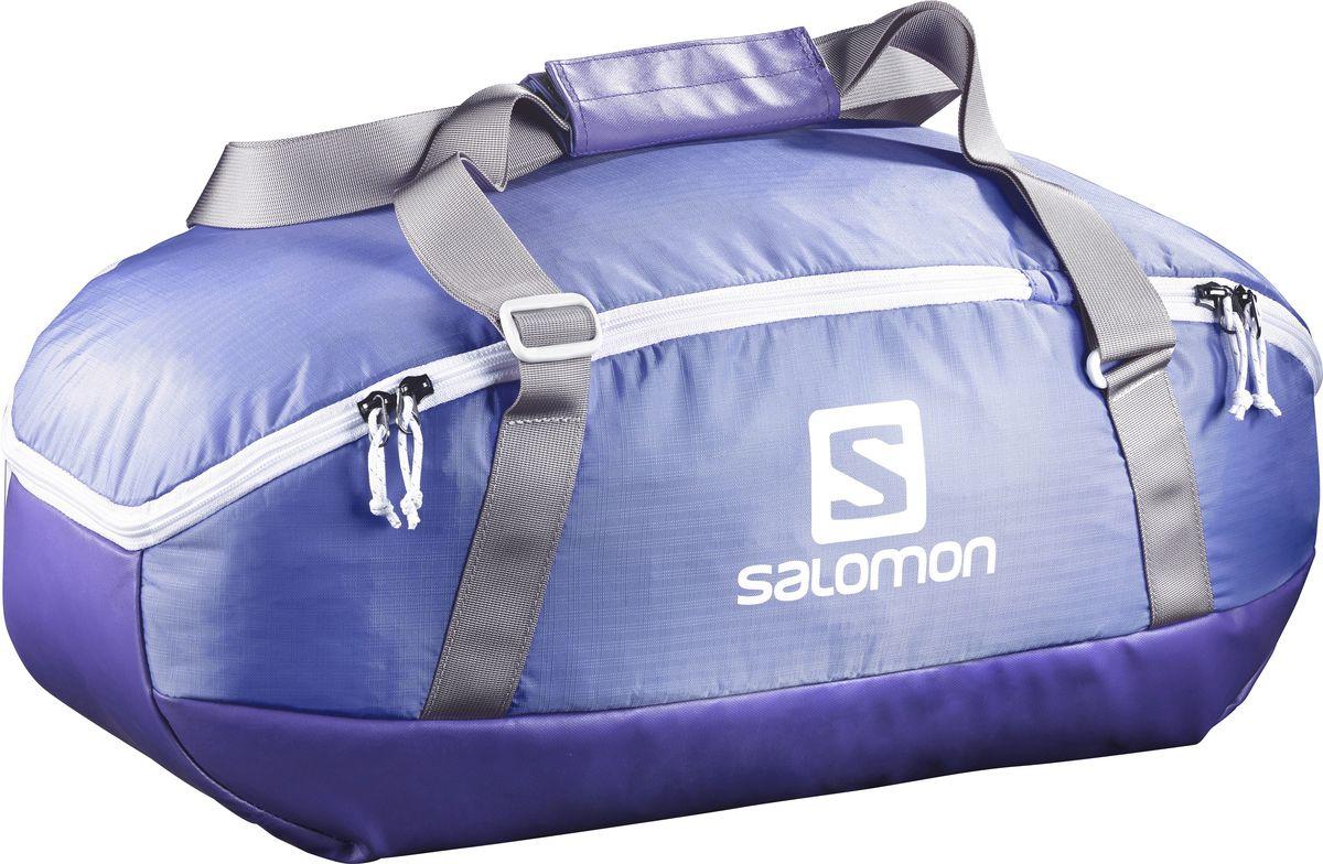 Сумка спортивная Salomon Prolog 40, цвет: сиреневый, 40 л1904508Сумка Salomon Prolog 40 выполнена из качественного полиэстера и оформлена принтом с изображением логотипа бренда. Сумка оснащена удобными ручками и закрывается на застежку-молнию. Внутри расположено вместительное отделение, которое содержит небольшой вшитый карман на молнии для мелочей. Небольшая сумка Prolog Bag удобна для похода в спортивный зал. Прочное непромокаемое дно надежно защитит вещи на любой поверхности.